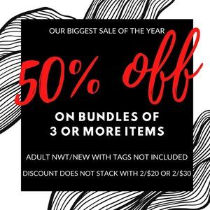 50% Off Your Bundle Sale!!!!